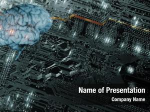 Futuristic artificial intelligence, communication, brain