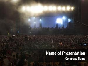 Rock crowd blur concert