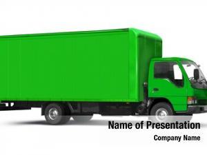 Truck green transport white
