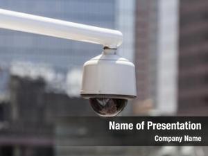 Security urban overhead camera cityscape