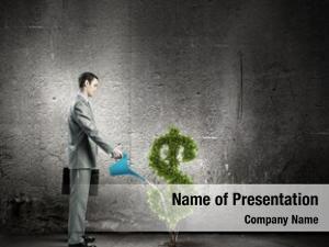 Watering image businessman money tree