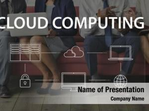 Cloud computing sitting business people