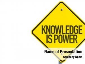 Sign knowledge power white
