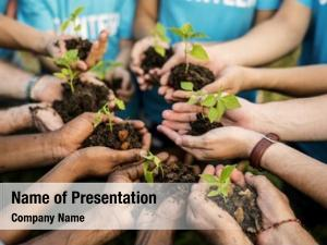 Conservation group environmental people hands