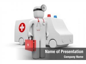 Medic with ambulance