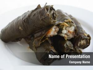 Leaves, stuffed vine dolmathes, traditional