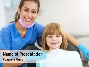 Child female dentist dentist office
