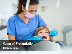 Child female dentist dentist office