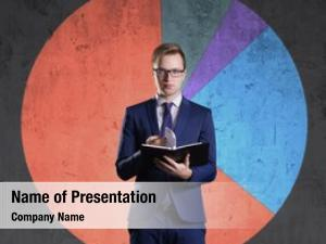 Organizer business man standing diagram