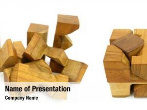 Puzzle wooden logic