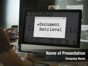 Document retrieval powerpoint theme