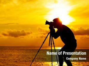 Sunset silhouette photographer