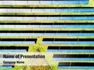 Solar aerial photo power plant
