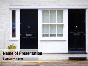 London digital painting townhouse doors,
