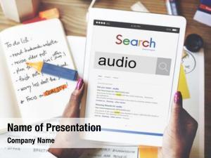 Music audio sound recording concept