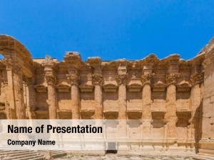 Romans temple bacchus ruins baalbek