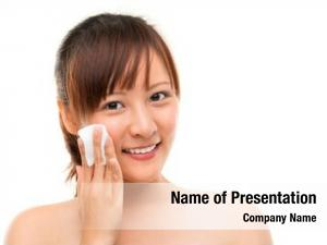 Woman skin care removing face