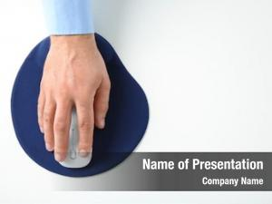 Computer male hand mouse pad