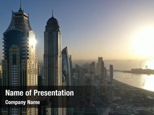 Dubai aerial view city