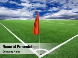 Football red flag ground corner