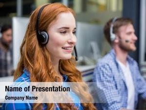 Communication customer smiling female