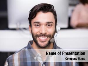 Communication customer portrait male