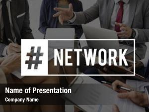 Businesspeople network goals target