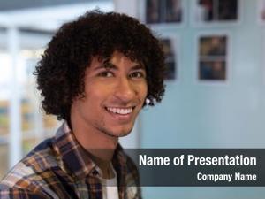 Male portrait mixed race graphic designer