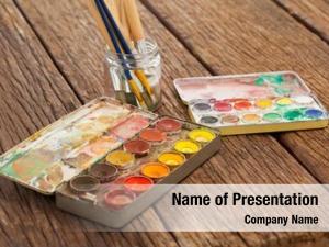 Creativity jar paint brush