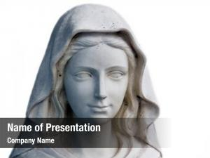 Statue holy mary portrait, white