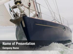 Boat, close sailing sail boat