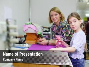 Student female tailor girl prepare