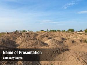 Mound of earth powerpoint theme