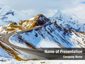 Mountain alpine panoramic road grossglocknerstrasse