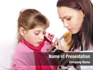Take sick child medicine doctor