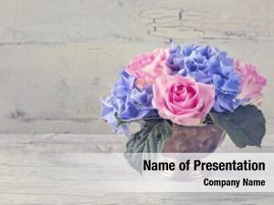 Flowers pastel colored vase