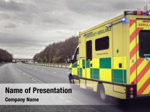 British ambulance powerpoint template
