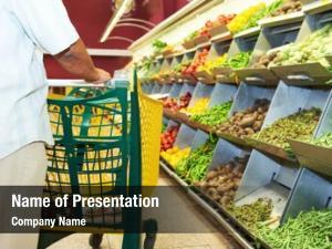 Cart man shopping during vegetable