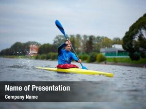 Athlete professional kayak training