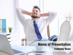 Businessman young businessman relaxing