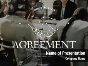 Agreement handshaking powerpoint theme