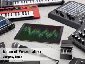 Tablet recording music electronic music