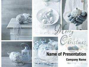 Arrangement of christmas powerpoint template