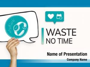 Save time powerpoint background