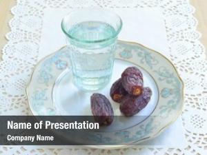 Dates  glass water food break