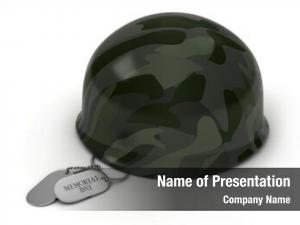 Helmet illustration military dog tags