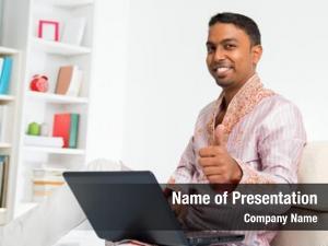 Computer indian man
