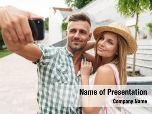 Caucasian photo young couple summer