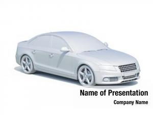 White render: car blank template,