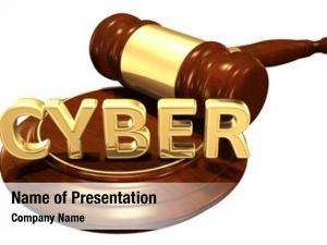 Concept cyber law illustration